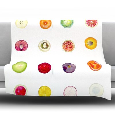 Fruit Fleece Throw Blanket Size: 80 L x 60 W