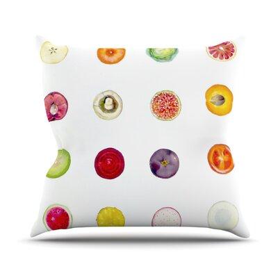 Fruit Throw Pillow Size: 26 H x 26 W x 5 D