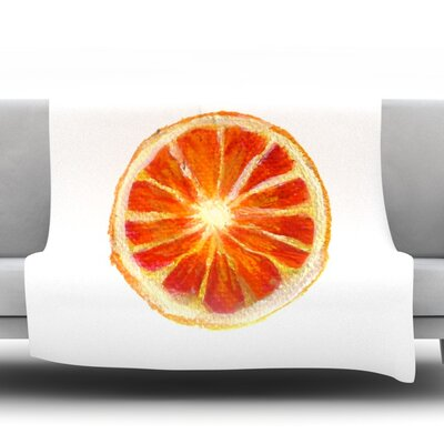 Grapefruit Fleece Throw Blanket Size: 80 L x 60 W