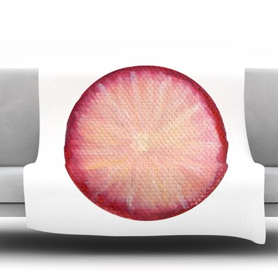 Radish Fleece Throw Blanket Size: 80 L x 60 W