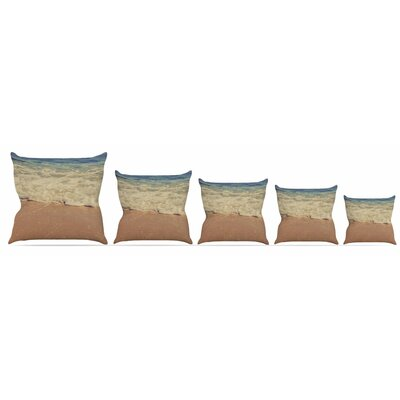 Sand Throw Pillow Size: 16 H x 16 W x 3 D