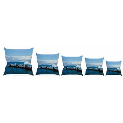 Rainbow Pier Throw Pillow Size: 18 H x 18 W x 3 D