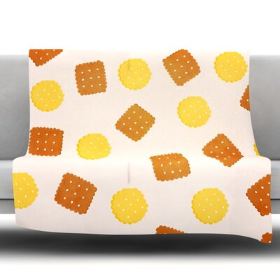 Do You Love Biscuits? Fleece Throw Blanket Size: 80 L x 60 W