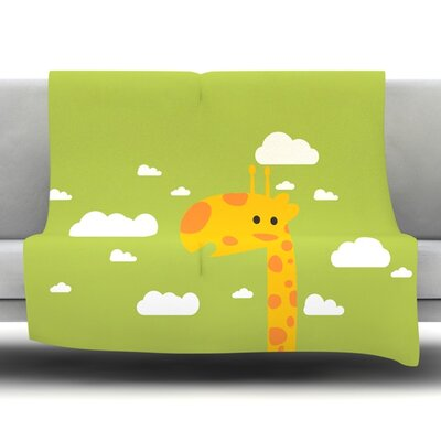 Baby Giraffe Fleece Throw Blanket Size: 80 L x 60 W