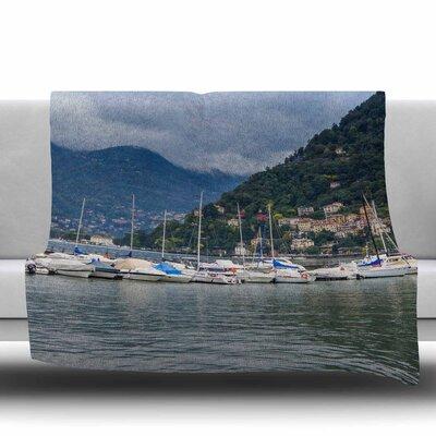 Italian Harbor Fleece Throw Blanket Size: 40 L x 30 W