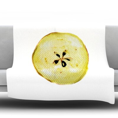 Apples Fleece Throw Blanket Size: 60 L x 50 W