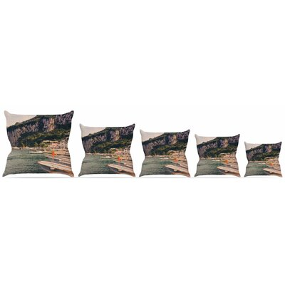 Boats of Paradise Throw Pillow Size: 18 H x 18 W x 3 D