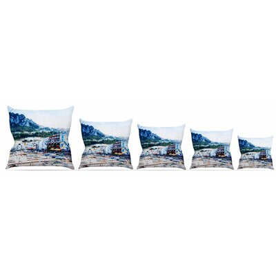 Capri Paradise Throw Pillow Size: 18 H x 18 W x 3 D