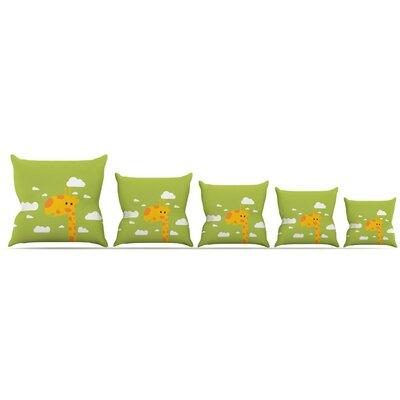 Baby Giraffe Throw Pillow Size: 26 H x 26 W x 5 D