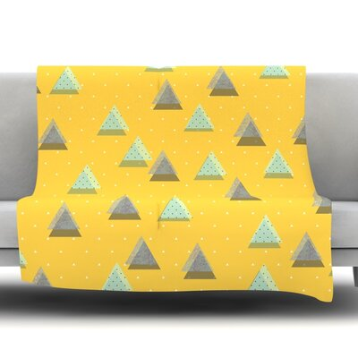 Triangles Fleece Throw Blanket Size: 40 L x 30 W