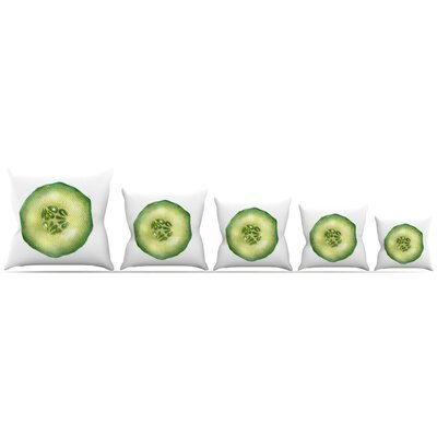 Cucumber Throw Pillow Size: 18 H x 18 W x 3 D