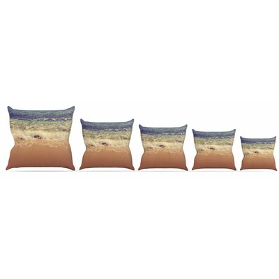 Crashing Waves Throw Pillow Size: 16 H x 16 W x 3 D