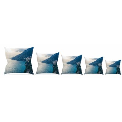 Amalfi Edge Throw Pillow Size: 18 H x 18 W x 3 D