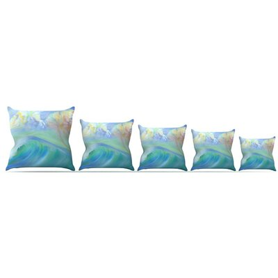 Jelly Fish Throw Pillow Size: 18 H x 18 W x 3 D