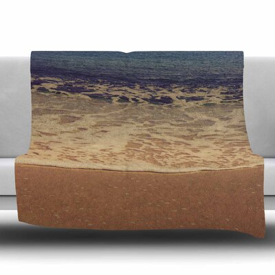 Ombre Beach Fleece Throw Blanket Size: 40 L x 30 W