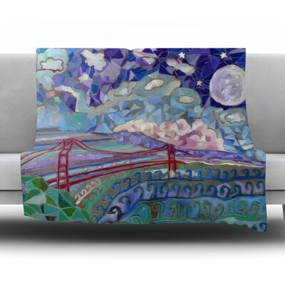 San Fran Fleece Throw Blanket Size: 60 L x 50 W