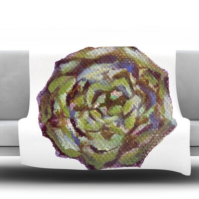 Artichoke Fleece Throw Blanket Size: 80 L x 60 W