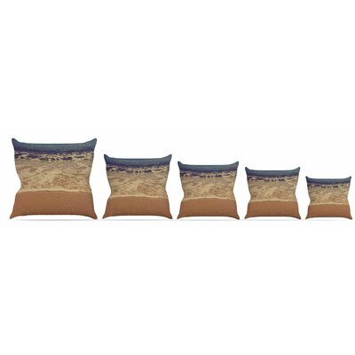 Ombre Beach Throw Pillow Size: 16 H x 16 W x 3 D