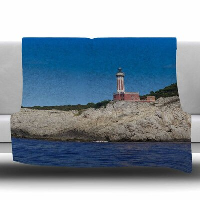 Lighthouse Fleece Throw Blanket Size: 40 L x 30 W