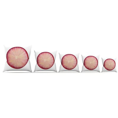 Radish Throw Pillow Size: 18 H x 18 W x 3 D