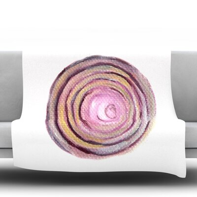 Onions Fleece Throw Blanket Size: 40 L x 30 W