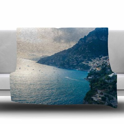 Amalfi Edge Fleece Throw Blanket Size: 60 L x 50 W