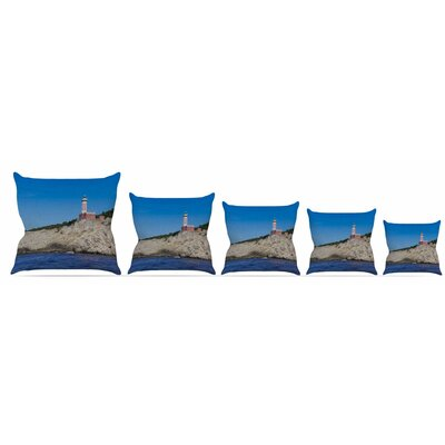 Lighthouse Throw Pillow Size: 18 H x 18 W x 3 D