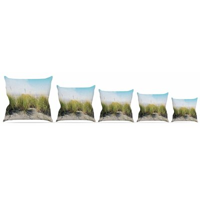 Dune Grass Throw Pillow Size: 16