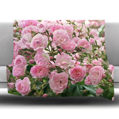 The Fairy Rose Fleece Throw Blanket Size: 40 L x 30 W