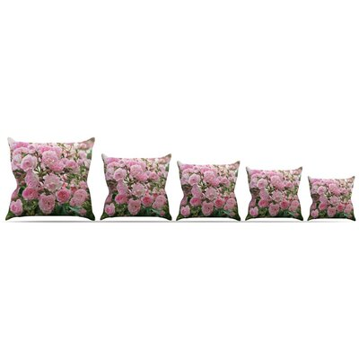 The Fairy Rose Throw Pillow Size: 26 H x 26 W x 5 D