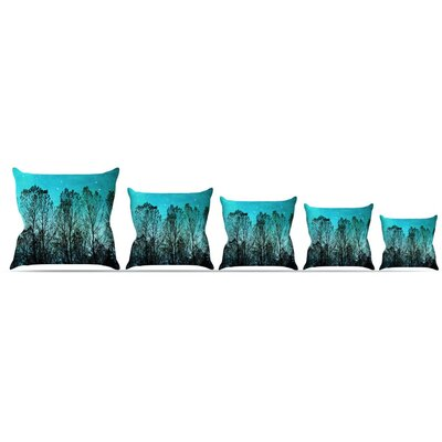Dark Forest Throw Pillow Size: 18 H x 18 W x 3 D