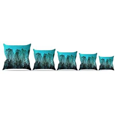 Dark Forest Throw Pillow Size: 16 H x 16 W x 3 D