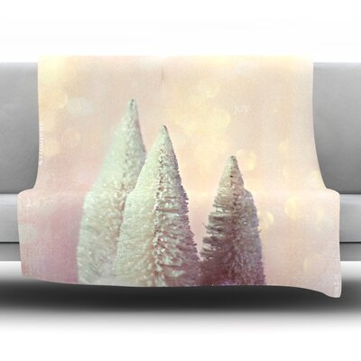 Bottle Brush Trees Fleece Throw Blanket Size: 80 L x 60 W