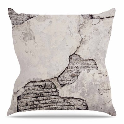 Crumbling Wall Throw Pillow Size: 16 H x 16 W x 3 D