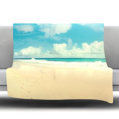 Beach Time Fleece Throw Blanket Size: 40 L x 30 W