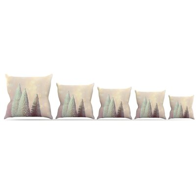 Bottle Brush Trees Throw Pillow Size: 18 H x 18 W x 3 D