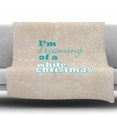 White Christmas Fleece Throw Blanket Size: 80 L x 60 W