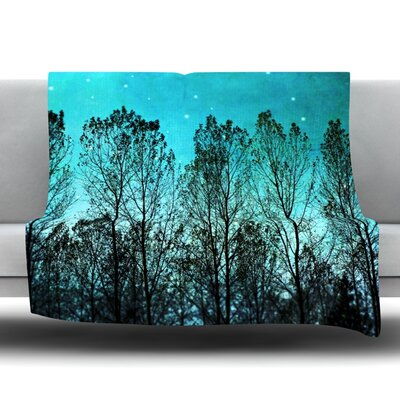 Dark Forest Fleece Throw Blanket Size: 40 L x 30 W