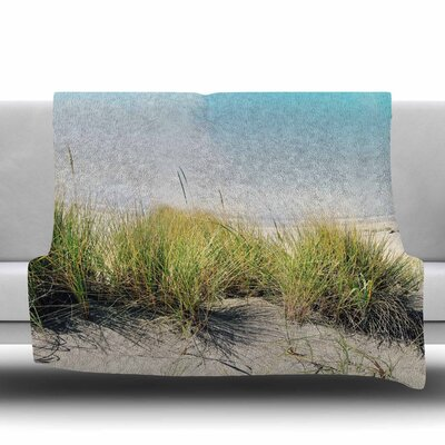 Dune Grass Fleece Throw Blanket Size: 40 L x 30 W