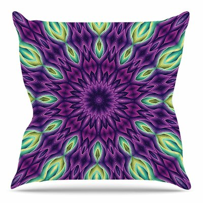 Throw Pillow Size: 16 H x 16 W x 3 D, Color: Purple
