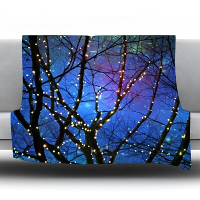 Holiday Lights Fleece Throw Blanket Size: 40 L x 30 W