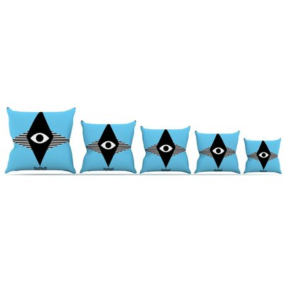Eye Graphic Throw Pillow Size: 18 H x 18 W x 3 D