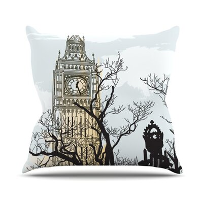 Big Ben Outdoor Throw Pillow