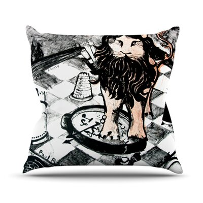 King Leo Outdoor Throw Pillow