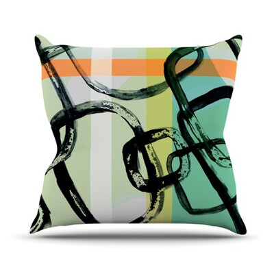 Sixties by Theresa Giolzetti Outdoor Throw Pillow Color: Orange