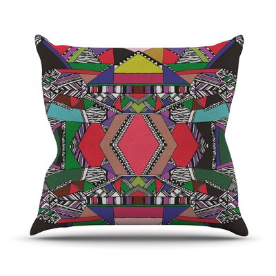 African Motif Outdoor Throw Pillow