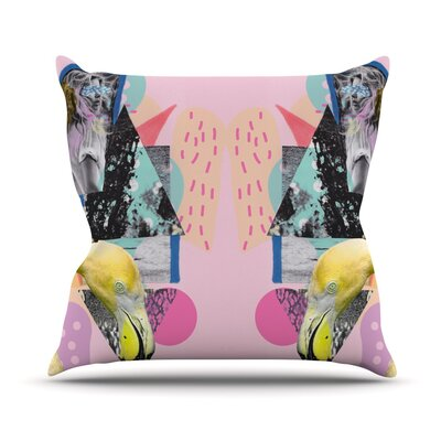 Flamingo Tropical Outdoor Throw Pillow