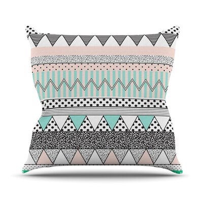 Chevron Motif Outdoor Throw Pillow