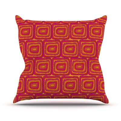 Bright Squares Outdoor Throw Pillow