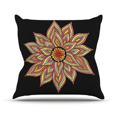Incandescent Flower Outdoor Throw Pillow